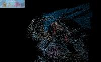 亮度在z值上排序的三维粒子图片