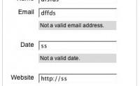 验证表单并显示错误信息