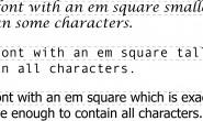 CSS权威指南(第四版)读书笔记——第5章 字体之字号